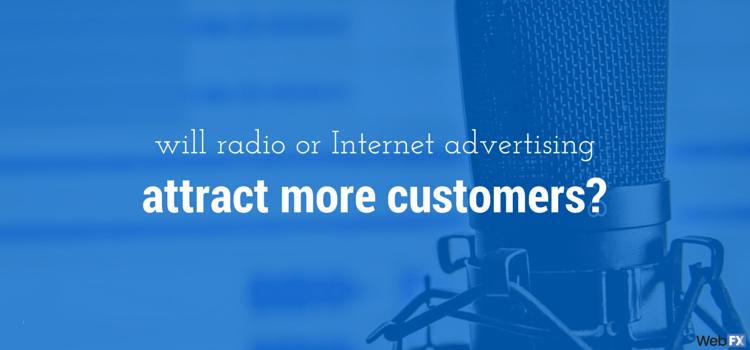 Anuncios de radio frente a anuncios de Internet