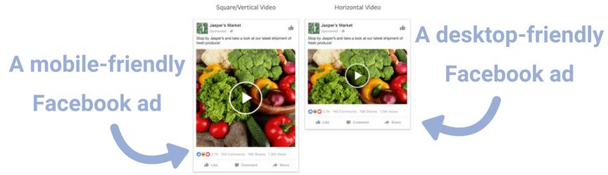 Una comparación de los anuncios móviles de Facebook y los anuncios de escritorio de Facebook