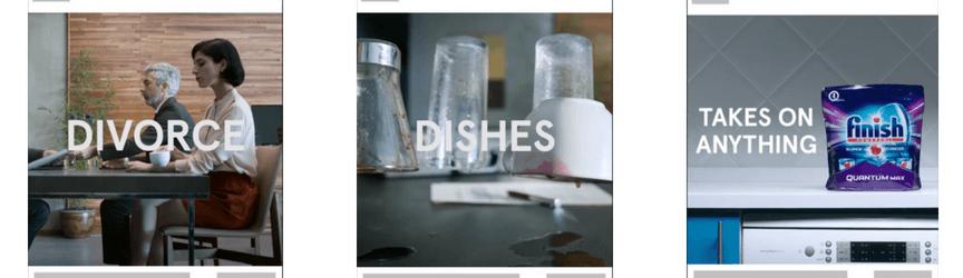 Un anuncio de video de reproducción automática de Facebook de Finish