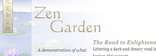 css Zen Garden: captura de pantalla.