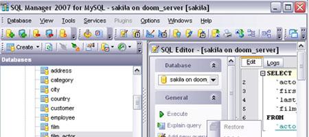 EMS SQL Manager para MySQL