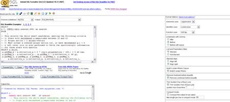 Formateador SQL instantáneo