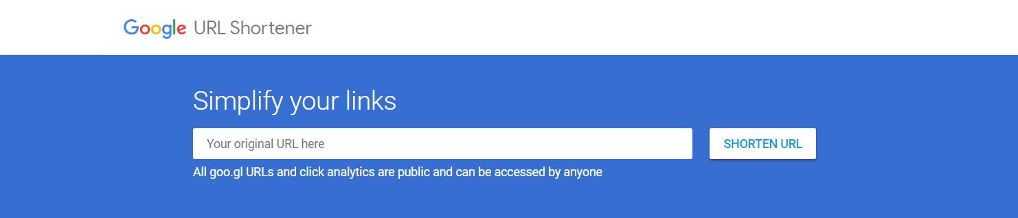 acortador de enlaces de Google