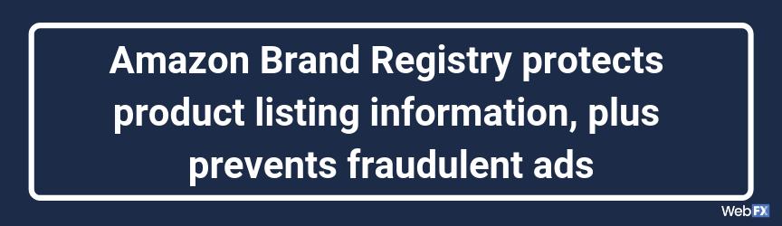 El Registro de marcas de Amazon protege la información de la lista de productos y además evita los anuncios fraudulentos