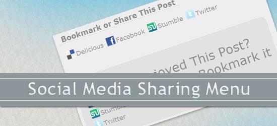 Cree un menú para compartir en las redes sociales usando CSS y jQuery