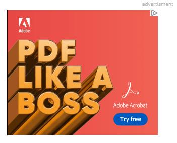 Un anuncio gráfico de Adobe con la frase,