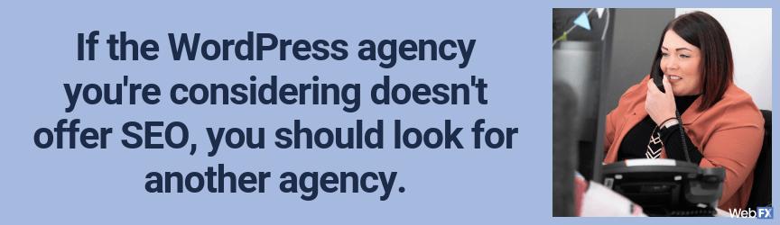 deberías buscar otra agencia si no pueden incluir seo