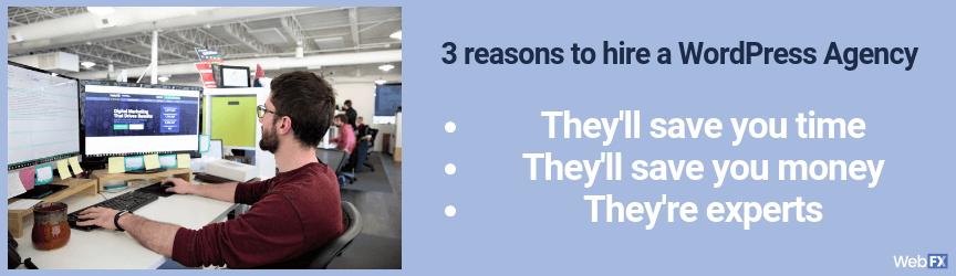 3 razones por las que debería contratar una agencia de diseño web wordpress