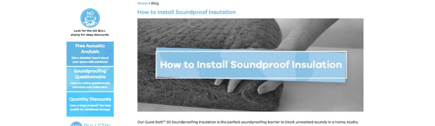 Una captura de pantalla del blog de Soundproof Cow