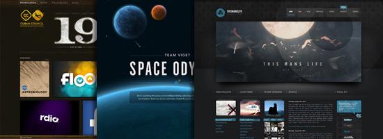 30 hermosos diseños web de temática oscura para inspirarte