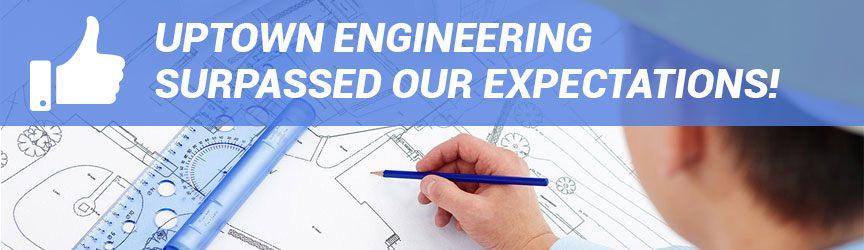 comentarios de los clientes que dicen que la empresa de ingeniería superó las expectativas